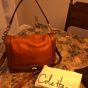 Cole Haan camel leather crossbody
